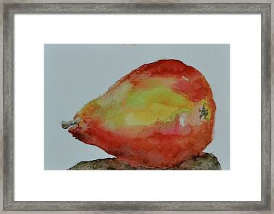 Framed Print featuring the painting Humble Pear by Beverley Harper Tinsley
