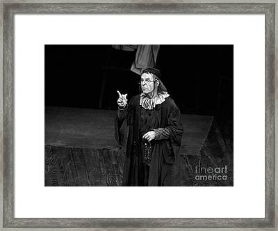 Hume Cronyn At The Guthrie Theatre Framed Print by The Harrington Collection