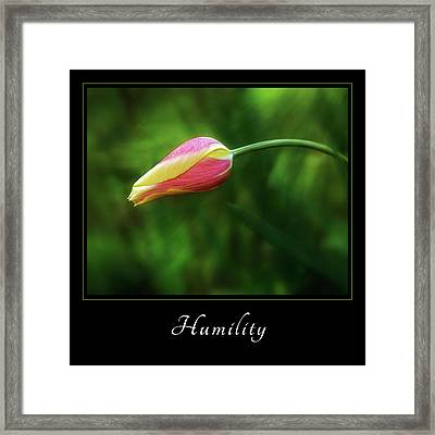 Framed Print featuring the photograph Humility 1 by Mary Jo Allen