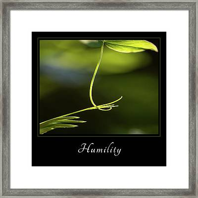 Framed Print featuring the photograph Humility 2 by Mary Jo Allen