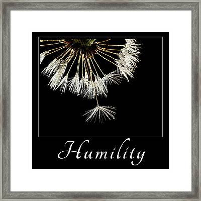 Framed Print featuring the photograph Humility by Mary Jo Allen