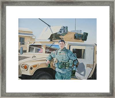 Framed Print featuring the painting Hummer by Mike Ivey