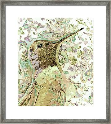 Humming Happily Framed Print