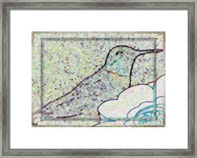 Hummingbird Accent  Framed Print by Debra     Vatalaro