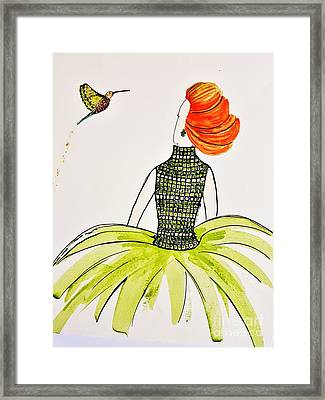 Hummingbird Admirer Framed Print