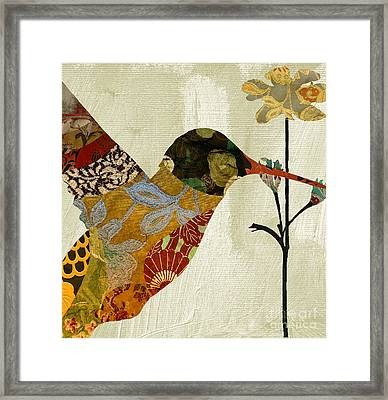 Hummingbird Brocade IIi Framed Print by Mindy Sommers