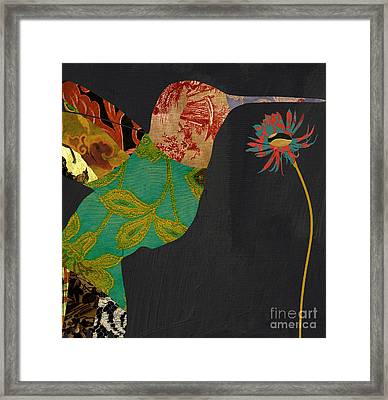 Hummingbird Brocade Iv Framed Print by Mindy Sommers