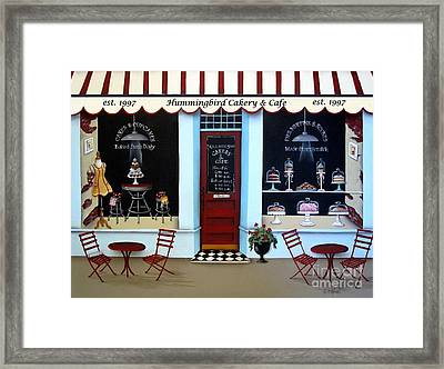 Hummingbird Cakery And Cafe Framed Print