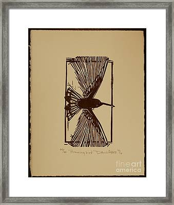 Hummingbird Framed Print by David Abed