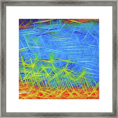 Hummingbird Green Framed Print