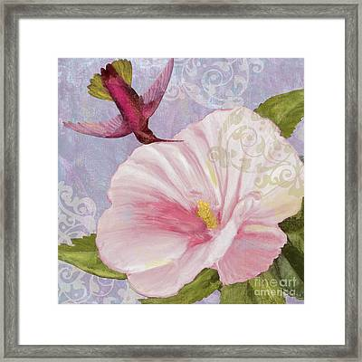 Hummingbird Hibiscus II Framed Print by Mindy Sommers