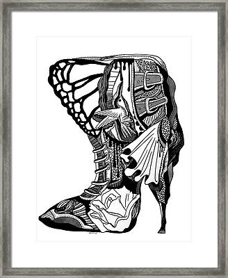 Hummingbird High Heel Framed Print by Kenal Louis