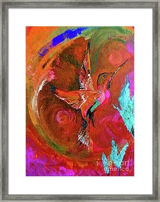 Hummingbird Framed Print by Lisa Kaiser