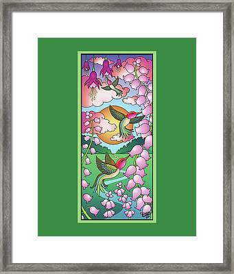 Hummingbird Sunrise Framed Print by Eleanor Hofer