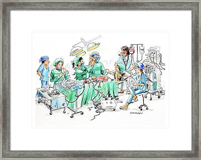 Humorous Surgical Comedy Framed Print