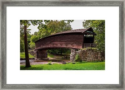 Humpback Bridge Framed Print by Karen Wiles