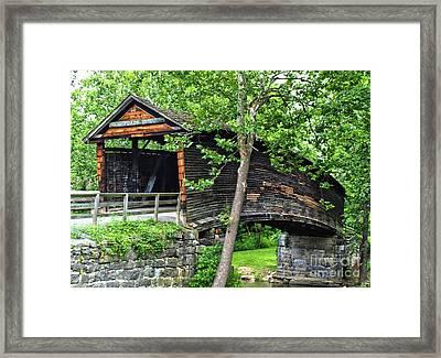 Humpback Bridge Framed Print by Kathy Jennings