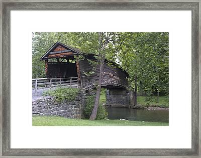 Humpback Covered Bridge In Covington Virginia Framed Print by Brendan Reals
