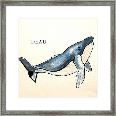 Humpback Whale Framed Print by Dominique Janssens