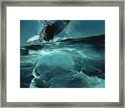 Humpback Whale Iv Framed Print by Heather Theurer