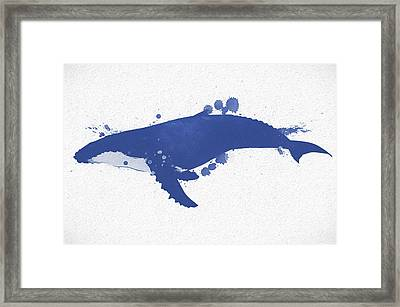 Humpback Whale Watercolor Framed Print