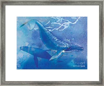 Humpback Whales Framed Print by Tracy Herrmann