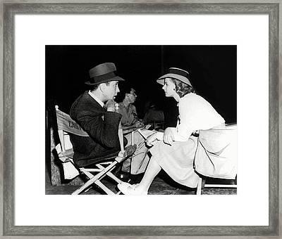 Humphrey And Ingrid Backstage Casablanca 1942 Framed Print by Daniel Hagerman