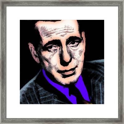 Humphrey Bogart 2 Framed Print by Otis Porritt