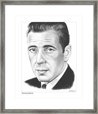 Humphrey Bogart Framed Print by Greg Joens