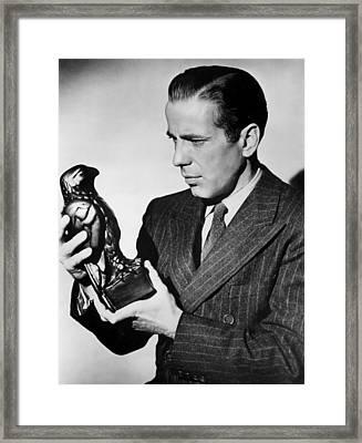 Humphrey Bogart Holding Falcon The Maltese Falcon 1941  Framed Print
