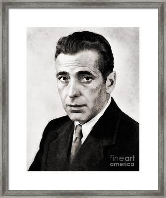 Humphrey Bogart, Hollywood Legend By John Springfield Framed Print by John Springfield