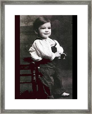 Humphrey Deforest Bogart At Two Years Of Age  1901 Framed Print by David Lee Guss