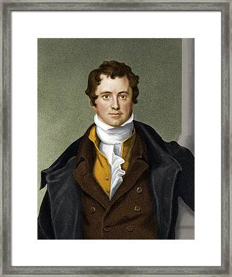 Humphry Davy, British Chemist Framed Print by Maria Platt-evans