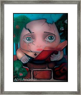 Humpty Dumpty Framed Print by  Abril Andrade Griffith