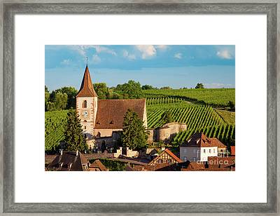 Hunawihr Evening Framed Print