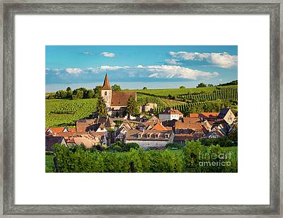 Hunawihr Evening II Framed Print by Brian Jannsen