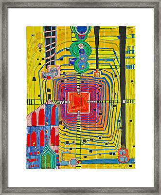 Hundertwassers Close Up Of Infinity Tagores Sun Framed Print