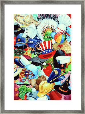 Hundreds Of Hats Framed Print by Hanne Lore Koehler