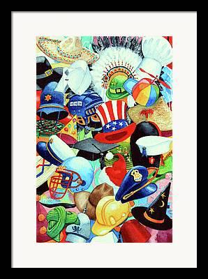 Quaker Hat Framed Prints