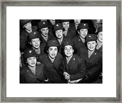 Hundreds Of Women From The Womens Framed Print by Everett
