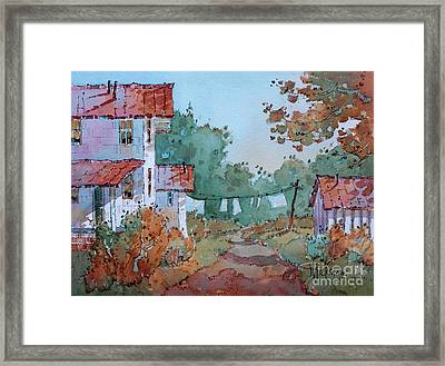 Hung Out To Dry Framed Print