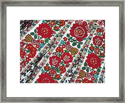 Hungarian Beaded Emboidery From Kalotaszeg Photograph Print Framed Print