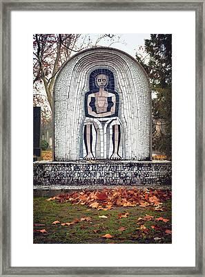 Hungarian Headstone Framed Print by Joan Carroll