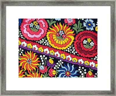 Hungarian Matyo Szentgyorgy Folk Embroidery Photographic Print Framed Print