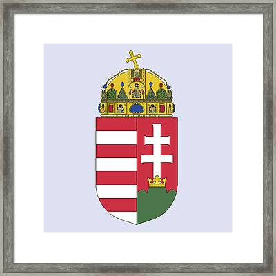 Framed Print featuring the drawing Hungary Coat Of Arms by Movie Poster Prints