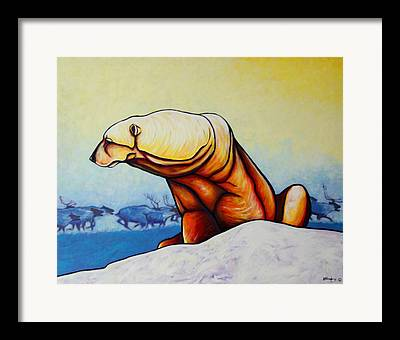 Lone Polar Bear Framed Prints