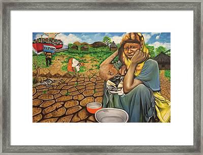 Hunger In The Land Of Plenty Framed Print