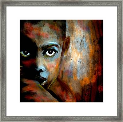 Hunger Number 3 Framed Print by Michelle Dick