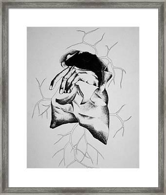 Hunger Framed Print by Omphemetse Olesitse