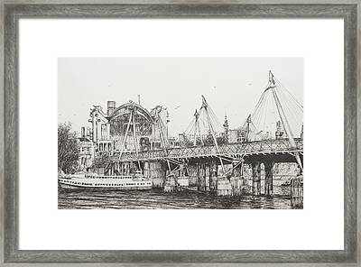 Hungerford Bridge Framed Print by Vincent Alexander Booth